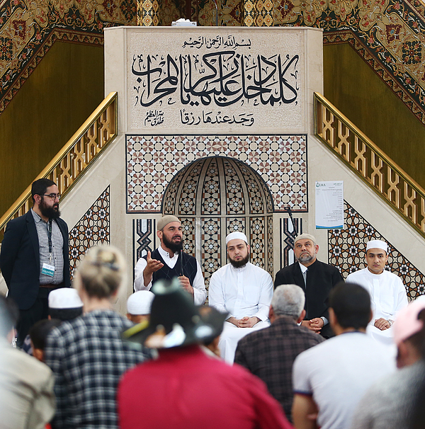 Australian Muslims Welcome Wider Community During National Mosque Open Day Photograph by Daniel Munoz