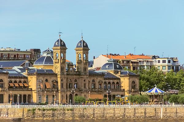 Ayutamiento Or City Hall Of San Sebastian (Donostia) Spain. Photograph by Dhwee