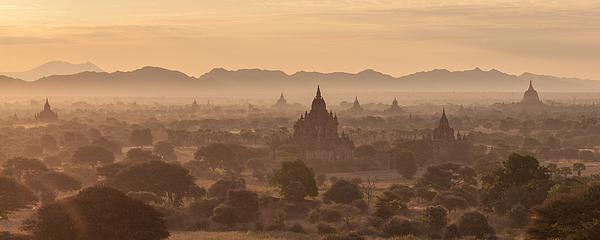 Bagan Panorama Photograph by Wolfgang Wörndl