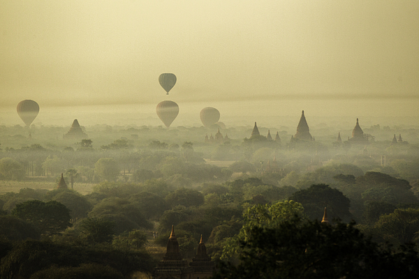 Bagan The Land Of Thousand Pagoda, Myanmar Photograph by Sabirmallick
