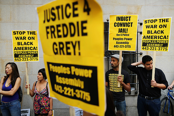 Baltimore Tense As Pre-Trial Motions Begin In Freddie Gray Death Case Photograph by Chip Somodevilla