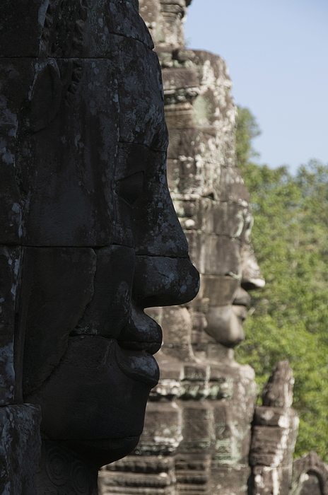 Bayon Temple, late 12th century, Buddhist, Angkor Thom, Angkor, UNESCO World Heritage Site, Siem Reap, Cambodia, Indochina, Southeast Asia, Asia Photograph by Robert Harding / robertharding