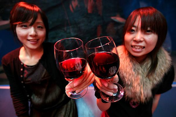 Beaujolais Nouveau Season Starts At Aquarium In Japan Photograph by Kiyoshi Ota