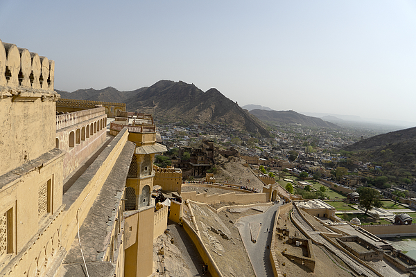 beautiful architecture  Amber fort and mughal empire at jaipur  rajasthan india Photograph by Skaman306
