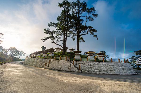 beautiful landscape of Dochula 108 stupa at Dochula pass Bhutan Photograph by Skaman306