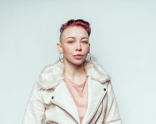 Beautiful punk woman in white leather jacket Photograph by Ian Ross Pettigrew
