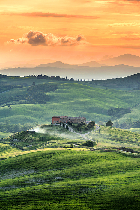 Beautiful summer landscape in Tuscany, Italy.