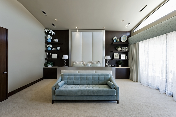 Bedroom interior Photograph by Moodboard