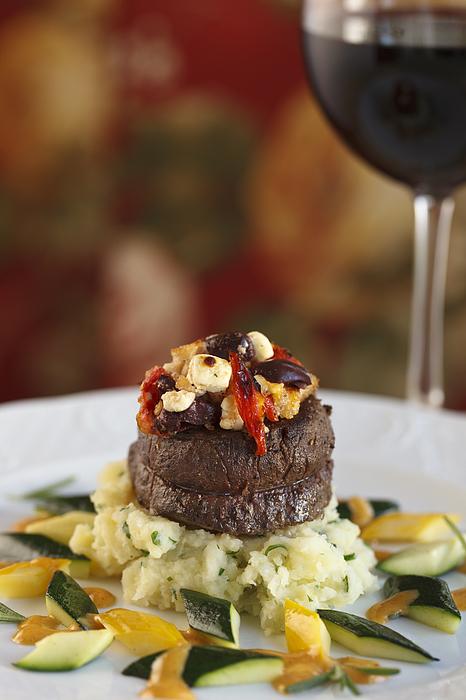 Beef Steak At Restaurant Photograph by Jon Lovette