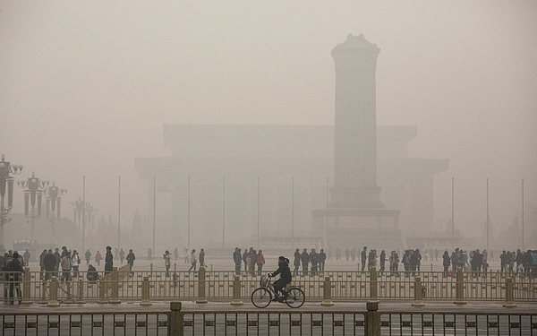 Beijing Blanketed In Heavy Smog Photograph by Kevin Frayer
