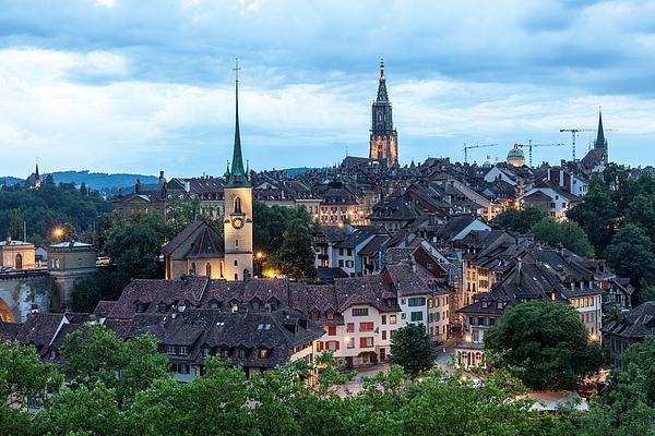 Bern Panorama Photograph by Wolfgang Wörndl