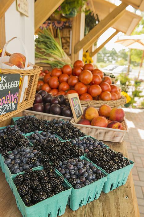 Berries at farmers market Photograph by Mark Edward Atkinson