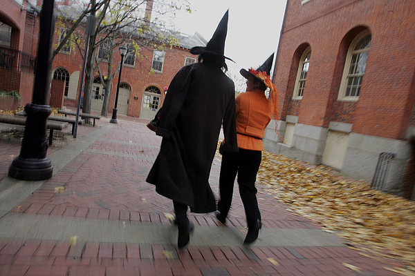 Bewitching Attractions Draw Visitors To Salem Photograph by Joe Raedle