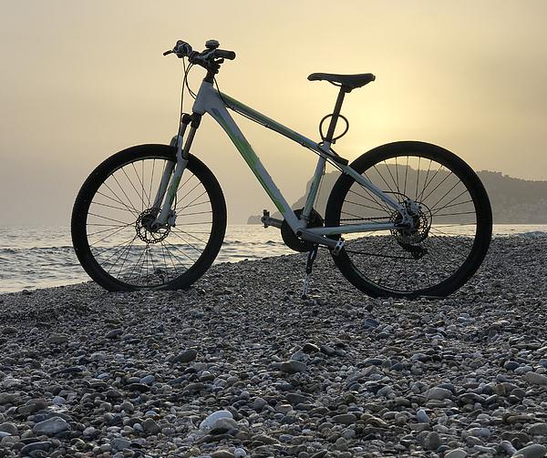 Bike On Sunset Beach Photograph by Jasmin Merdan
