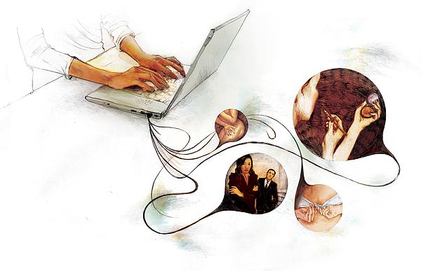 Blogging Drawing by Maya Shleifer