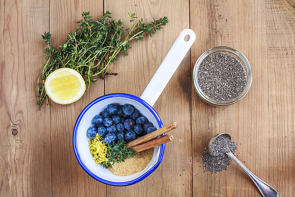 Blueberry Jam with Chia Seeds Photograph by Enrique Díaz / 7cero