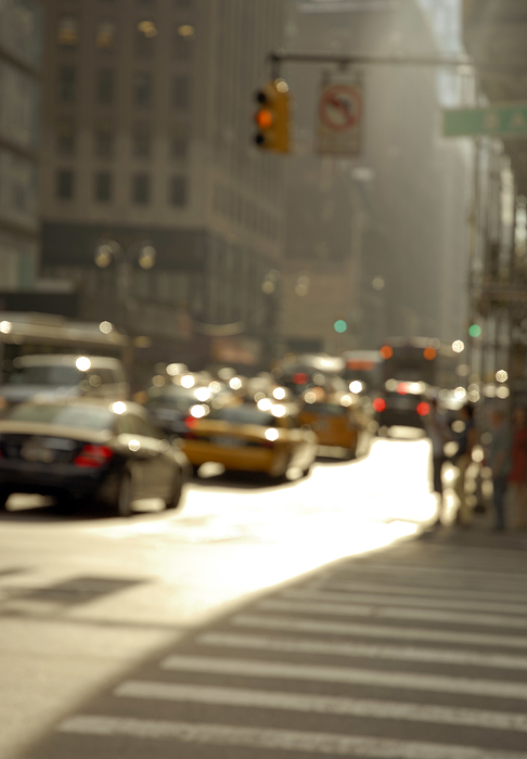 Blurred New York city street with cars Photograph by Lyn Holly Coorg