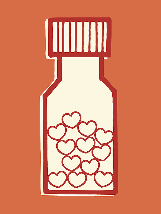 Bottle of Love Pills Drawing by CSA-Archive