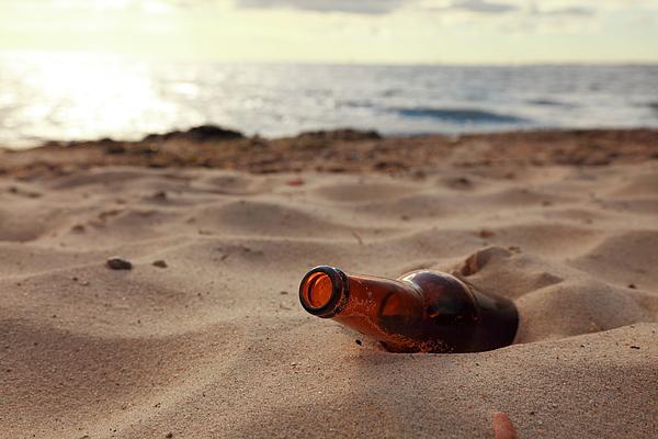 Bottle On Beach Photograph by LSaloni