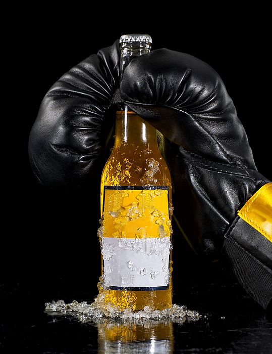 Boxing Glove and Beer Photograph by Ian Gwinn