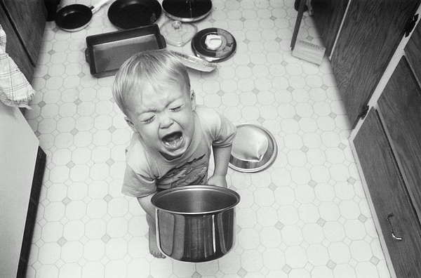 Boy Playing With Pots And Pans, Screaming Photograph by Sean Justice