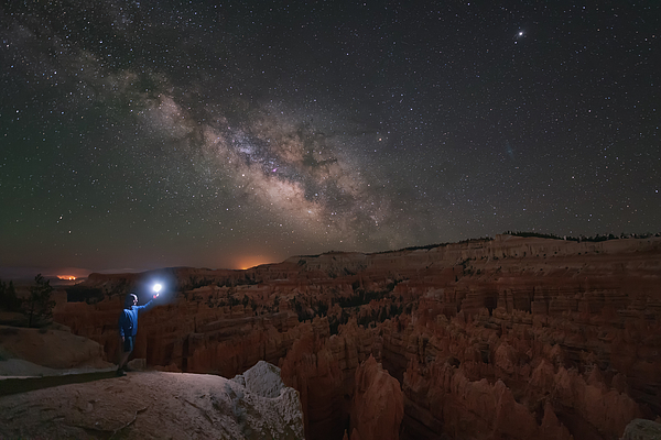 Bryce Canyon Milky Way Photograph by Carlos Fernandez