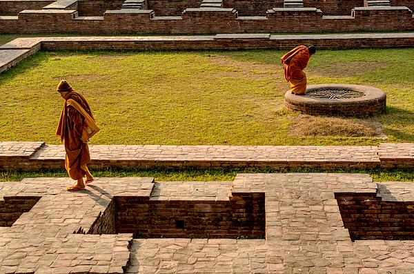 Buddhist Monks, Sarnath, Varanasi Photograph by Dilwar Mandal