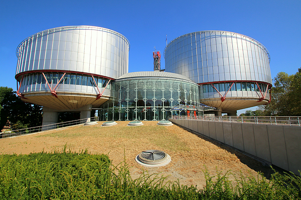 Building of the European Court of Human Rights at Strasbourg Photograph by Frans Sellies
