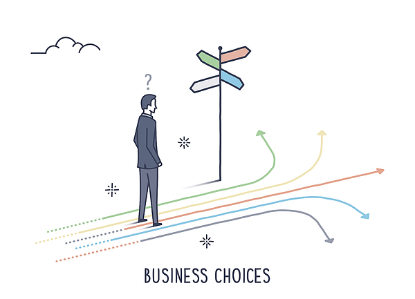 Business Choices Drawing by Ilyast