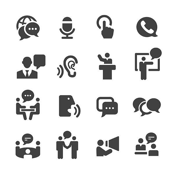 Business Communication Icons - Acme Series Drawing by -victor-