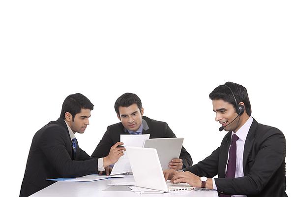 Businessmen in a meeting Photograph by Sudipta Halder