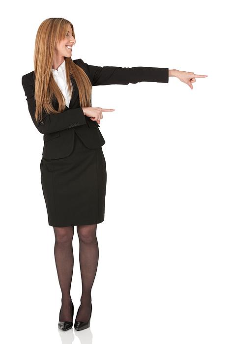 Businesswoman Pointing Sideways Photograph by 4x6
