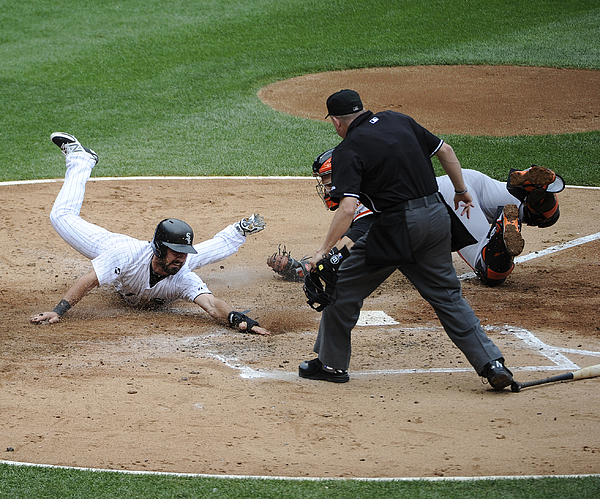 Buster Posey and Adam Eaton Photograph by David Banks