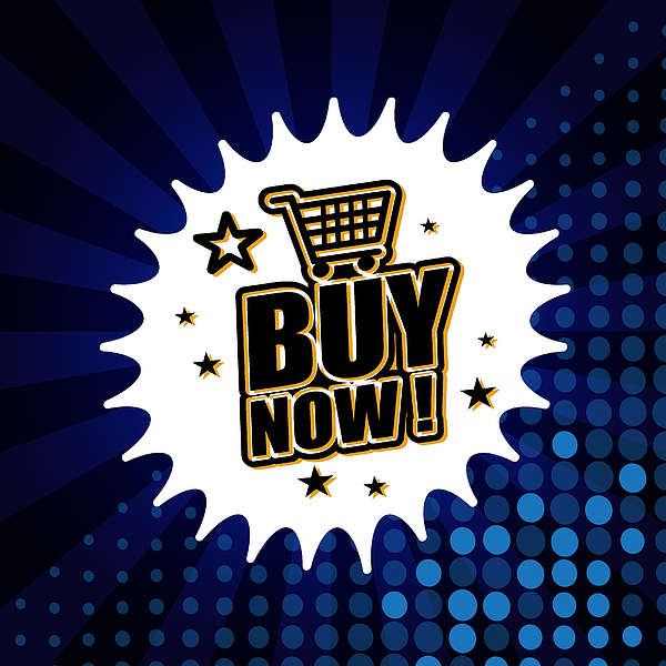 Buy Now Banner Drawing by Simon2579