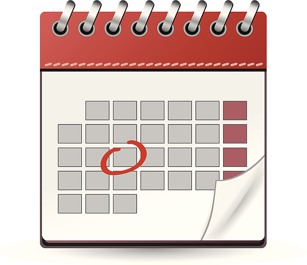 Calendar red with one day marked Drawing by Iconeer