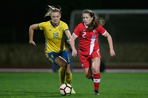 Canada  v Sweden  -Algarve Cup Women Photograph by Soccrates Images