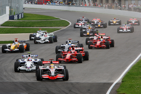 Canadian Formula One Grand Prix: Race Photograph by Mark Thompson