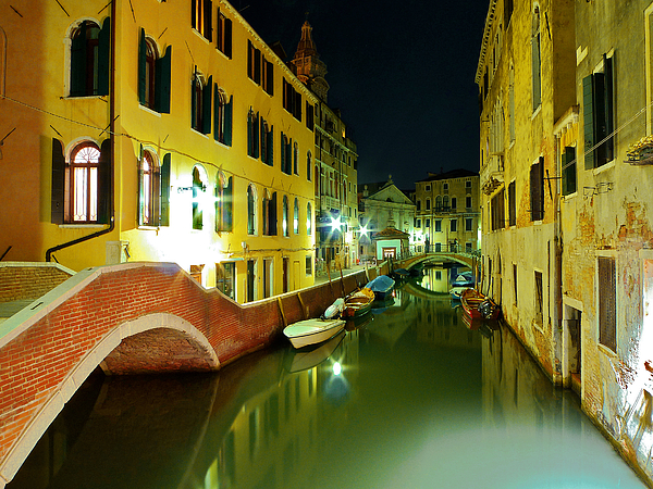 Canal in Venice Photograph by Bernd Schunack