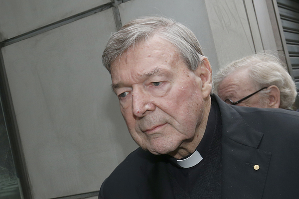 Cardinal George Pell Attends Court To Face Historical Child Abuse Charges Photograph by Darrian Traynor
