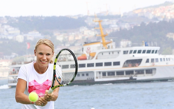 Caroline Wozniacki in Turkey Photograph by Anadolu Agency