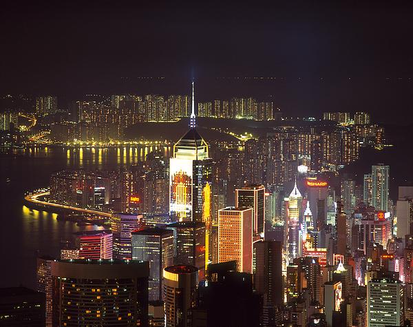 Central Plaza Building, Victoria Harbor, Wanchai, Hong Kong, China Photograph by Dallas and John Heaton