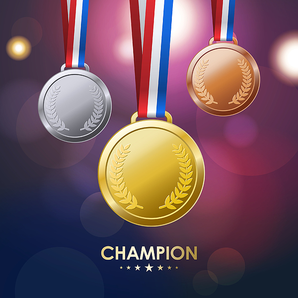 Champion Medals Drawing by Exxorian