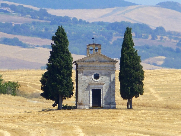 Chapel of Vitaleta in Val dOrcia Photograph by Frans Sellies