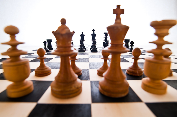 Chess board Photograph by Toshiro Shimada