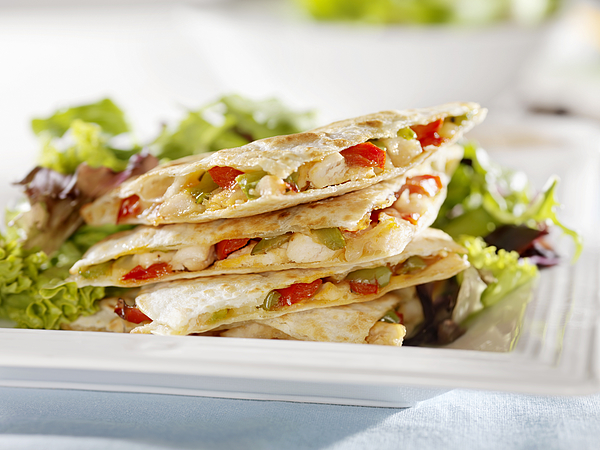 Chicken Quesadilla with a Garden Salad Photograph by LauriPatterson