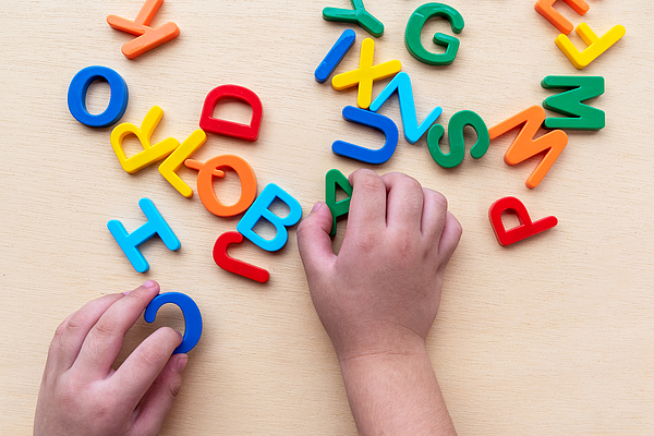 Child Playing ABC Photograph by Nora Carol Photography