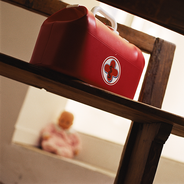 Childs Medical Bag On Chair. Photograph by Christian Zachariasen