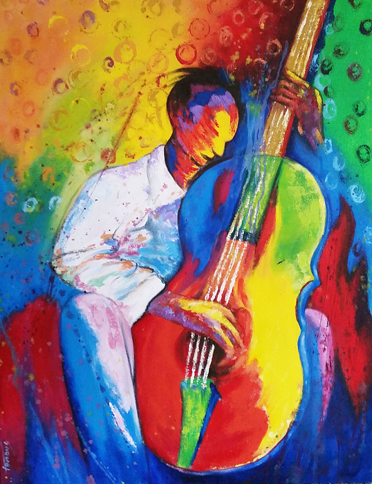 Tunde Painting - Chilln by Tunde Afolayan-Famous