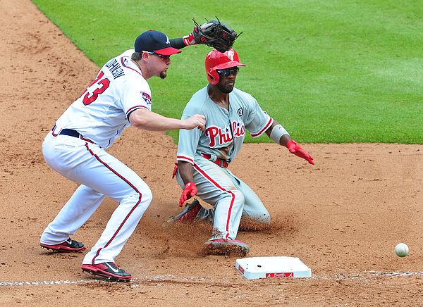 Chris Johnson and Jimmy Rollins Photograph by Scott Cunningham