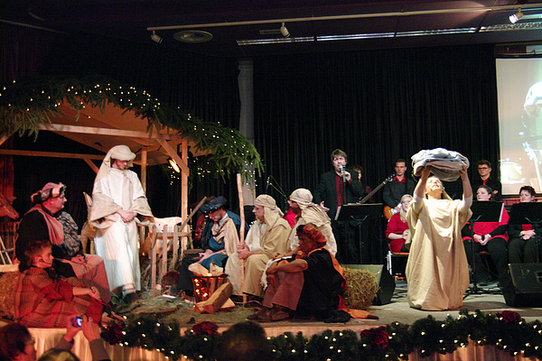 Christmas With Nativity Scene Photograph by Middelveld